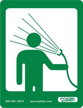 Option: Safety Equipment Sign for Drench Hose