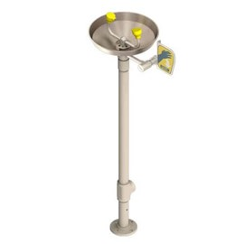 All-Stainless Steel Pedestal Mount Eye Wash