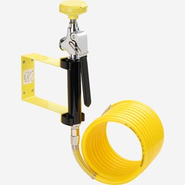 Wall Mount Stay-Open Drench Hose with 12-Foot Coiled Hose
