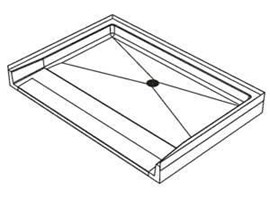 "64"" x 38"" ID Rectangular, Terrazzo ADA Ramp Shower Base"