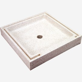 "36"" x 36"" Square, Terrazzo Institutional Shower Base"