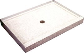 48 X 32 Long Side Entry Terrazzo Rectangular Shower Base