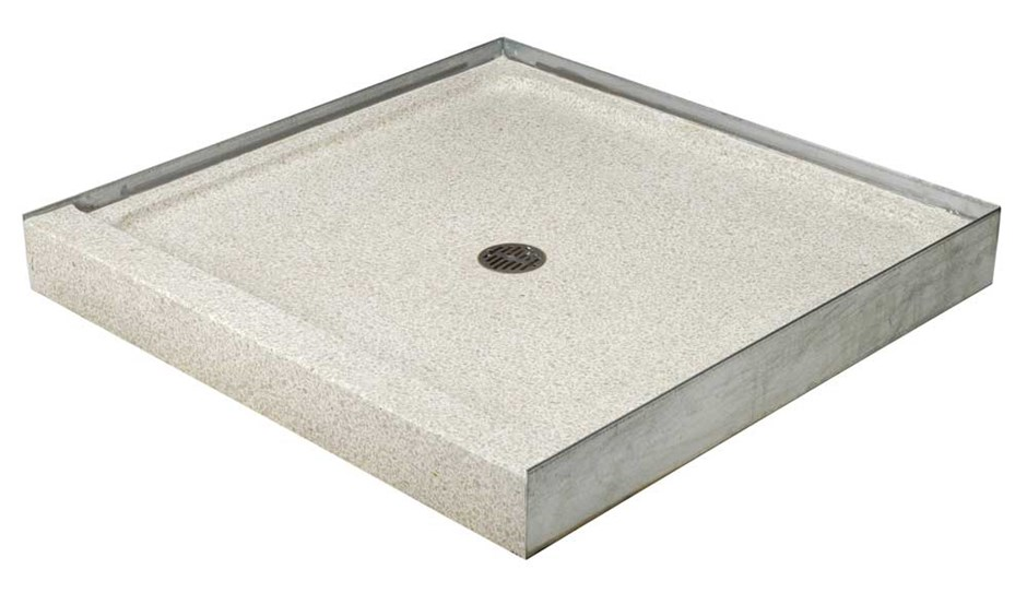 36 X 3 Sides D Terrazzo Square Shower Base