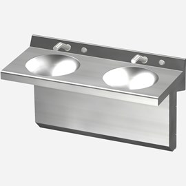 "Option: Stainless Steel Narrow Apron 2-1/2"" High"
