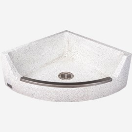 "28"" x 28"" x 12"" Height (1/4 Circle) Corner Terrazzo Mop Sink"