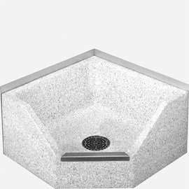 "24"" x 24"" x 12"" Height Drop Front Terrazzo Mop Sink"
