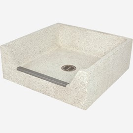 "32"" x 32"" x 12"" Height Drop Front Terrazzo Mop Sink"