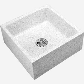 "24"" x 24"" x 10"" Height Reduce Height Terrazzo Mop Sink"