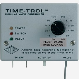 Flush Valve Timed Lock-Out Time-Trol Controller with Flood-Trol Anti-Flood System