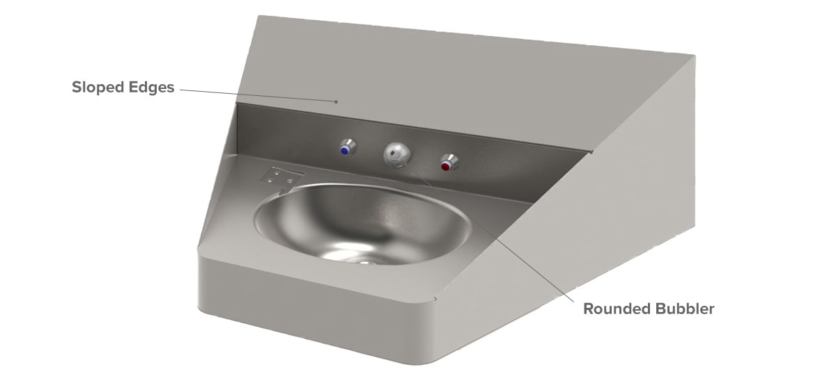 Ligature Resistant Washbasin for Correctional Safety