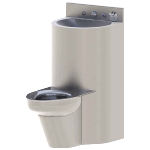 Ligature Resistant Comby Toilet & Lavatory for Correctional Facilities